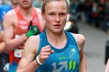 Anna Hahner en route to winning the 2014 Vienna City Marathon (Organisers / www.photorun.net)