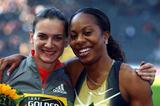 Yelena and Sanya with 1 Million Dollar smiles in Berlin (Getty Images)