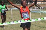 Pauline Njeri pips Edna Kiplagat for the win in the women's 8km race at 2011 Kenya Police Interdivisional Cross Country Championships (Ignatius Kemboi)