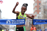 Caroline Rotich wins the 2015 Boston Marathon (Getty Images)