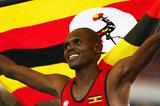 Uganda's Moses Kipsiro celebrates his victory (Getty Images)