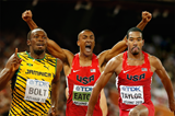 Usain Bolt, Ashton Eaton and Christian Taylor (Getty Images)
