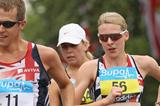 Joanna Jackson (r) and Dominic King testing the London Olympic Race Walk course  (Getty Images)