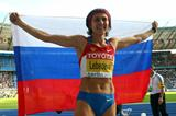Defending Champion Tatyana Lebedeva of Russia wins the silver medal in the Berlin Olympic Stadium during the IAAF World Championships (Getty Images)