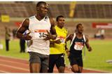 Usain Bolt running in the 100m heats at the 2008 Jamaican Champs (Sporting Eagle)
