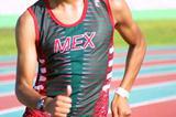 Mexico's Eder Sanchez winner of 10,000m walk at CAC Junior Championships (Conade)