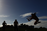 Triple jumper in action (Getty Images)