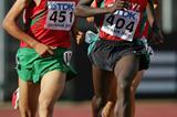 Daniel Lemashon Salel of Kenya wins the 3000m final (Getty Images)