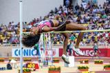 Brigetta Barrett, winner of the High Jump at the 2013 Monaco Diamond League (Philippe Fitte)