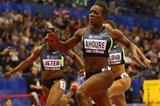 Murielle Ahoure speeds to a 6.99 clocking in the 60m in Birmingham (Getty Images)