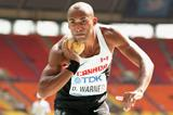 Damian Warner in men's Decathlon Shot Put at the IAAF World Athletics Championships Moscow 2013 (Getty Images)