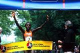 Lornah Kiplagat wins the New York 10km (Victah Sailer)