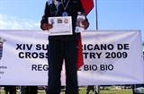 Roberto Echeverría (CHI) after his victory in the 2009 South American XC champs (Foto Fedachi)