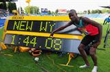 Leonard Kirwa Kosencha celebrates setting a new World Youth 800m best (Getty Images)