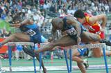 Allen Johnson of the USA wins the 110m hurdles (Getty Images)