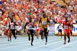 Usain Bolt and Justin Gatlin in the mens 4x100m Relay at the IAAF World Athletics Championships Moscow 2013 (Getty Images)