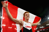 Shawn Barber after winning the pole vault at the IAAF World Championships, Beijing 2015 (Getty Images)