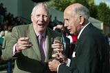 Roger Bannister with John Landy - Oxford 6 May 2004 (Getty Images)