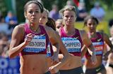 Katarina Johnson-Thompson leads the heptathlon 800m at the Hypo Meeting in Gotzis (PHOTO PLOHE)