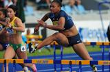 Trinity WILSON USA competes in the Girls 100 metres hurdles qualification - Day One WYC Lille 2011 6 July 2011 (Getty Images)