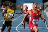 Ryan Bailey winning the men's 4x100m at the IAAF/BTC World Relays, Bahamas 2015 (Getty Images)