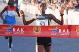 Lucy Kabuu runs the second-fastest time in history to win the RAK Half Marathon (Victah Sailor)