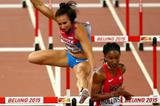 Brianna Rollins wins her 100m hurdles semi final at the IAAF World Championships, Beijing 2015 (Getty Images)