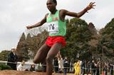 Muchiri Karoki en route to his run away victory at the Chiba Cross Country (Kazutaka Eguchi/Agence SHOT)