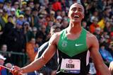 9039 reasons to smile - Ashton Eaton after his World record in Eugene (Getty Images)