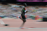 David Rudisha during the London 2012 Olympic Games ()