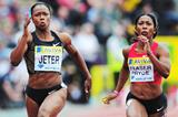 Another close Diamond League race between Carmelita Jeter and Shelly-Ann Fraser-Pryce (Getty Images)