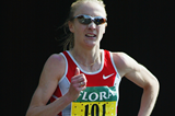 Paula Radcliffe running in the 2003 London Marathon (Getty Images)