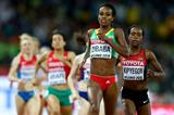Genzebe Dibaba wins her 1500m semifinal at the IAAF World Championships, Beijing 2015 (Getty Images)