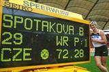 Barbora Spotakova breaks the javelin world record in Stuttgart (Getty Images)