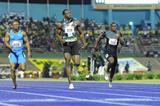 Yohan Blake (l) upsets Usain Bolt in Kingston with a sizzling 9.75 (Anthony Foster)
