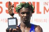 Wilson Loyanse after winning at the 2015 Seoul International Marathon (Organisers)