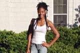 Shaunae Miller on her way to classes, 14 August 2014 (Shaunae Miller)
