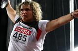 Franka Dietzsch of Germany - third World Discus Throw title (Getty Images)