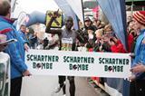 Kenya's Leonard Komon winning at the the Peuerbach New Year's Eve Run in Austria (Andreas Maringer / Bezirksblicke)