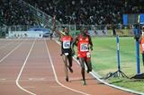 Joshua Cheptegei wins the African junior 10,000m title (Bizuayehu Wagaw)