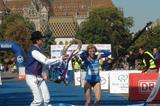 Olena Burkovska of Ukraine takes the Kosice Peace Marathon title (Kosice Peace Marathon organisers)