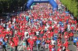 Thousands of runners take part in the 2014 Women's Race For Victory in Rabat (Organisers)