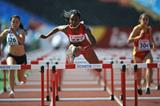 USA's Dior Hall in the 100m Hurdles heats at the 2013 World Youth Championships (Getty Images)