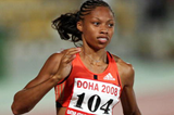 Dazzling double for Allyson Felix in Doha (Getty/AFP)