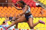 Perri Shakes Drayton in the womens 400m Hurdles at the IAAF World Championships Moscow 2013 ()
