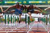 Hansle Parchment and David Oliver in the 110m hurdles at the IAAF Diamond League meeting in Eugene (Getty Images)