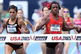 Alysia Montano beats Brenda Martinez in the 800m at the 2013 US Championships (Getty Images)