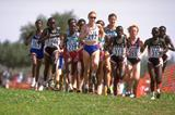 Paula Radcliffe in front of the leading pack at the 1998 IAAF World Cross Country Championships (Getty Images)
