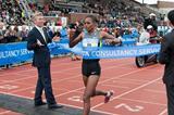 Meseret Hailu winning the 2012 TCS Amsterdam Marathon (organisers)