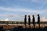 Kenya's 4x1500m team on top of the podium at the IAAF World Relays, Bahamas 2014 (Getty Images)